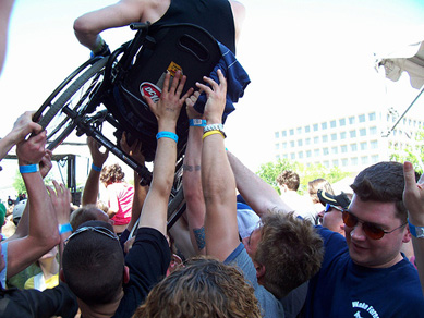 Extreme Crowd Surfing