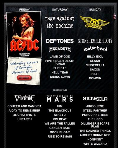 участники Download festival 2010