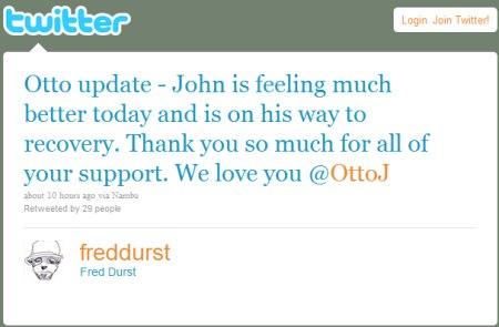 Cообщение в твиттере от Фреда Дёрста.