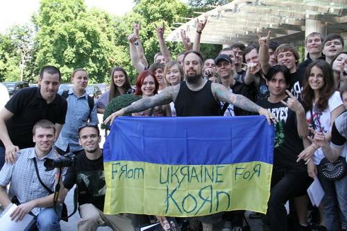 Fieldy и украинские фанаты