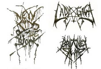 Метал лого поп-групп